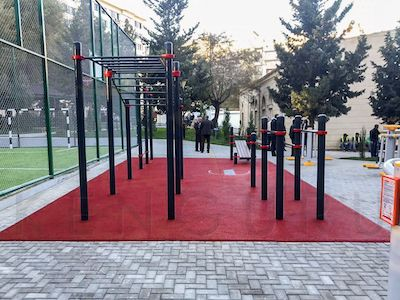 Street workout ground in Baku, Azerbaijan