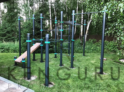 Outdoor workout equipment for private households
