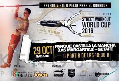 Kenguru Pro Street Workout World Cup stage in Madrid 2016