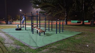 Outdoor street workout ground in