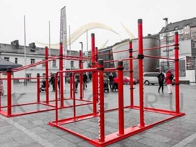 Kenguru Pro mobile workout equipment at the SGGF 2017 exhibition in Finland