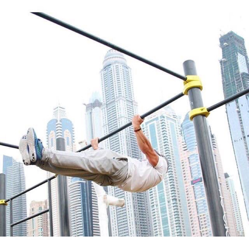 Kenguru Pro street workout park in SkyDive, Dubai