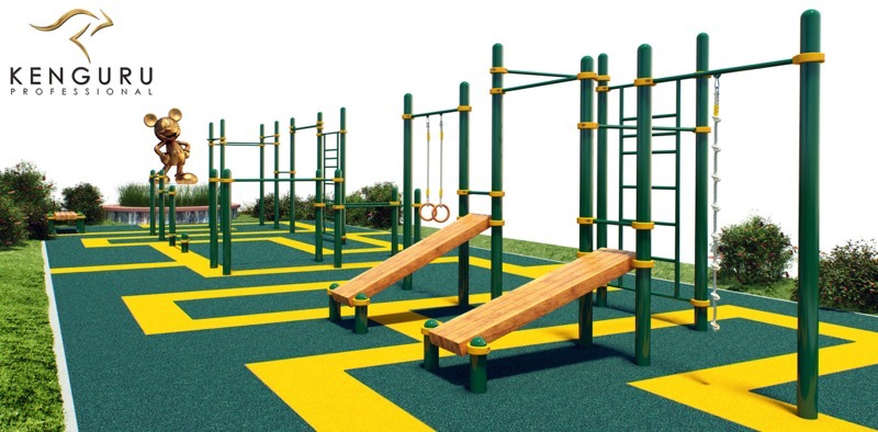 Kenguru Pro outdoor workout park in Disney Land, France