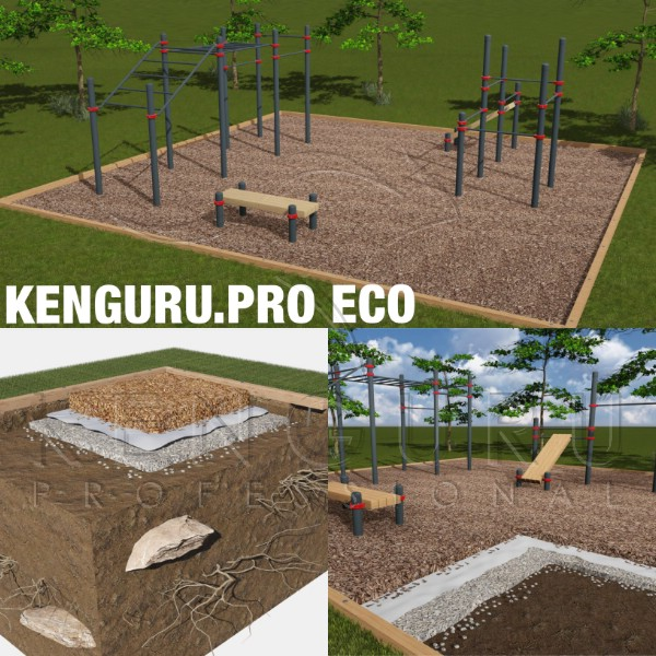 Eco workout park solution - Kenguru Pro
